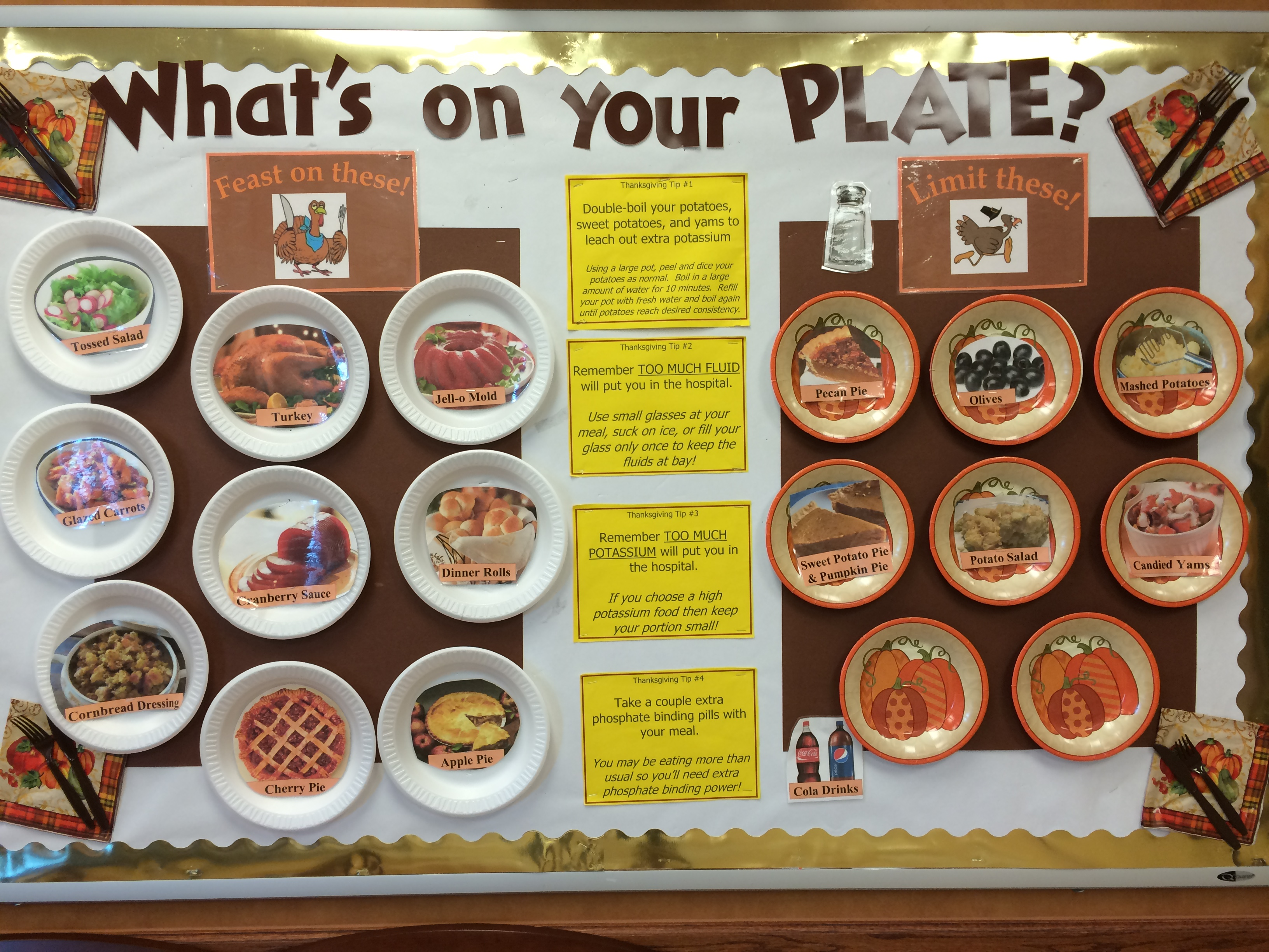 November Bulletin Board What S On Your Plate Kidney Rd