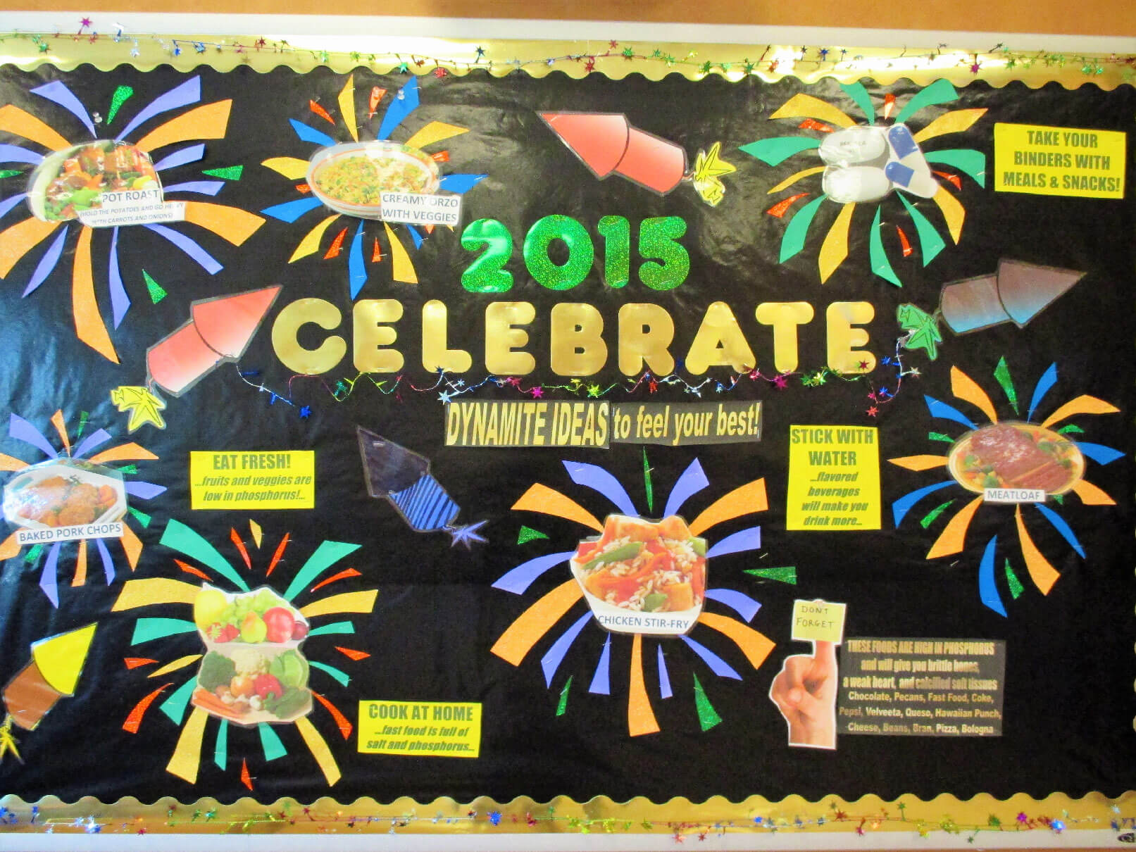 January Dialysis Bulletin Board Celebrate A New Year Kidney Rd