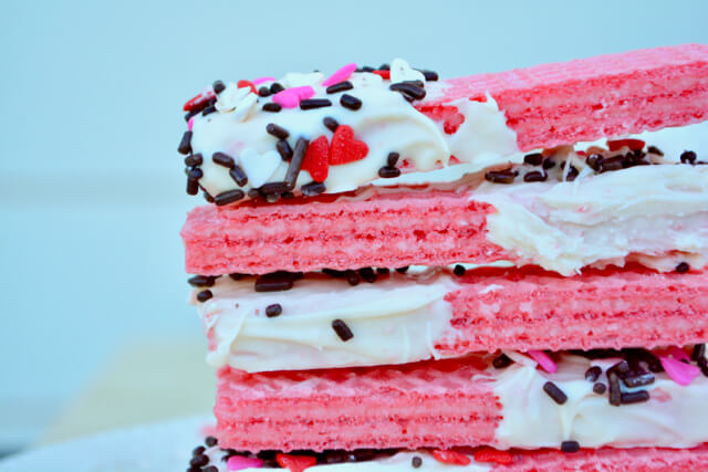 low phosphorus kidney-friendly pink cookies with white almond bark