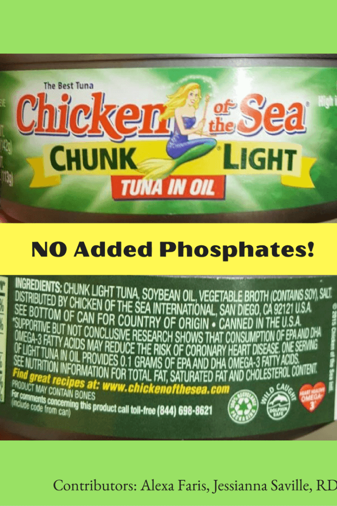 Tuna WITHOUT Added Phosphates! |renal diet|