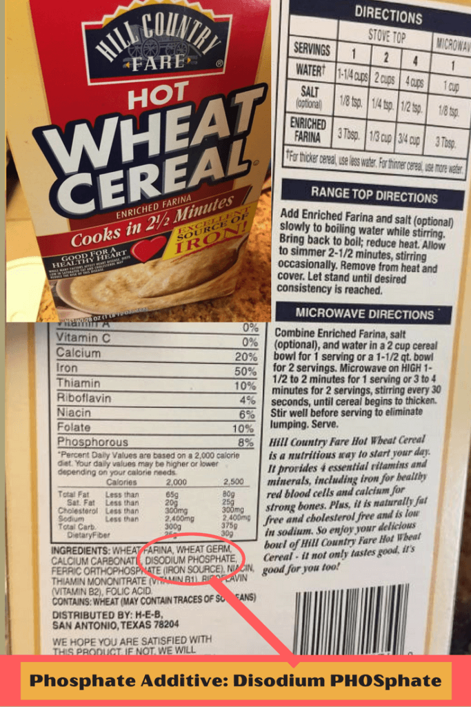 Wheat Cereal WITH Phosphate Added |renal diet|