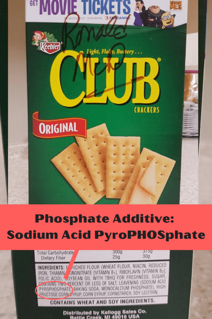 Crackers WITH Phosphate Additive |renal diet|