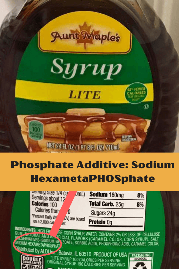 Syrup WITH Phosphate Added |renal diet|